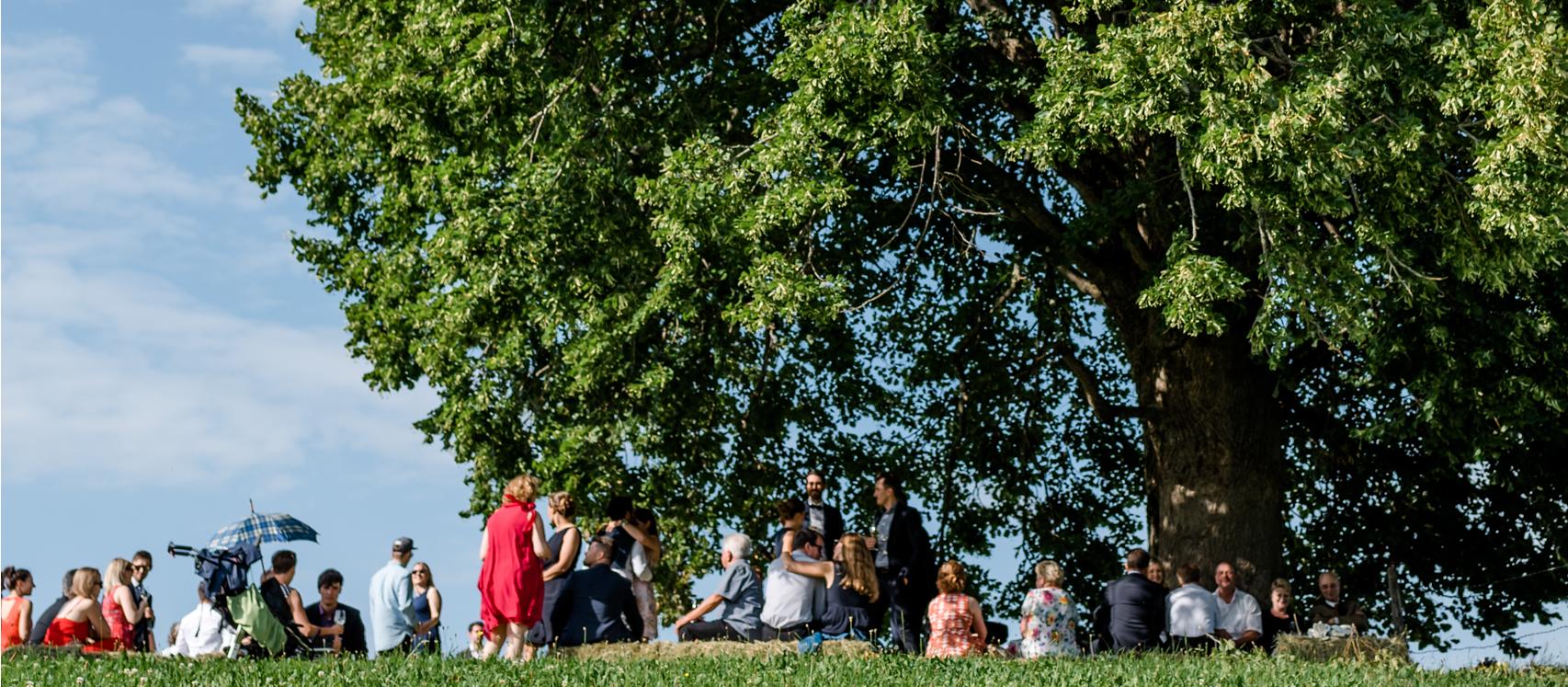 freistil. Feiern & Veranstaltungen. Hochzeitsbegrüßung auf der Wittelsbacher Höhe
