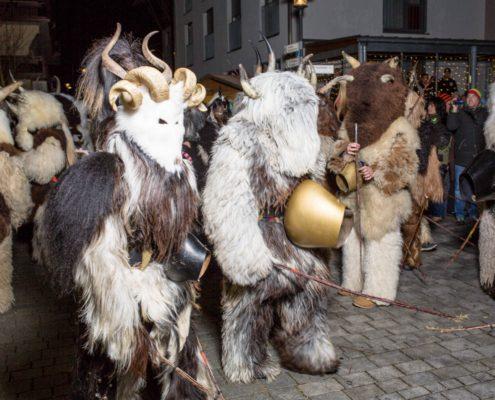 freistil. Oberallgäu. Brauchtum: Sonthofen Klausentreiben auf dem Marktplatz